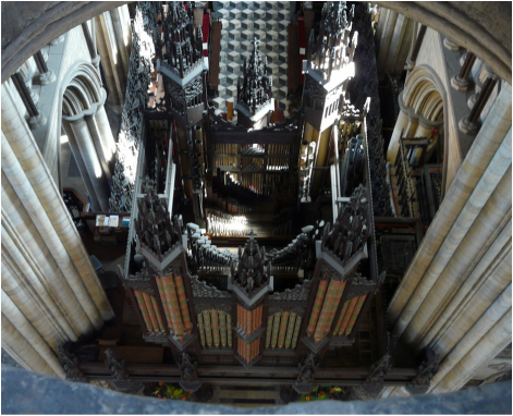 The pipe organ of Beverley Minster, East Yorkshire