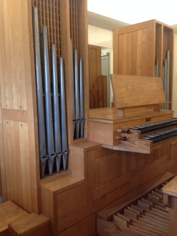 The organ, refurbished by Wood Pipe Organ Builders in the Royal Northern College of  Music, Manchester