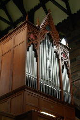 The two-manual organ in  St Cross, Chorley