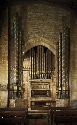 The Casson organ in All Saints', Thorpe Malsor after restoration by our company