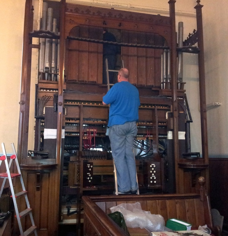 A Thomas Casson organ in Wales which has been restored by Wood Pipe Organ Builders, Huddersfield, West Yorkshire
