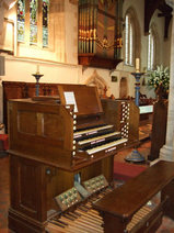 Organ in St Mary, Buckland, Oxford, rebuilt by our West Yorkshire company