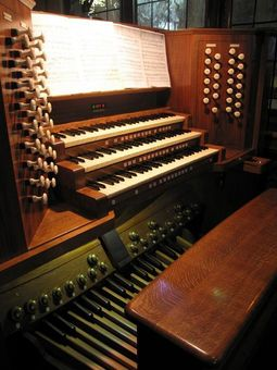 The refurbished pipe organ in St Peter and St Paul, Mansfield