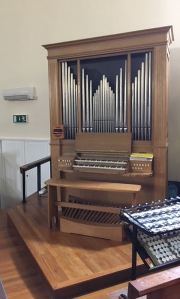 The Wood extension pipe organ in the church of Our Lady of Lourdes, Sheepridge, Huddersfield